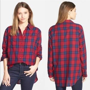Madewell 100% Cotton Long Sleeve Button Down SZ L